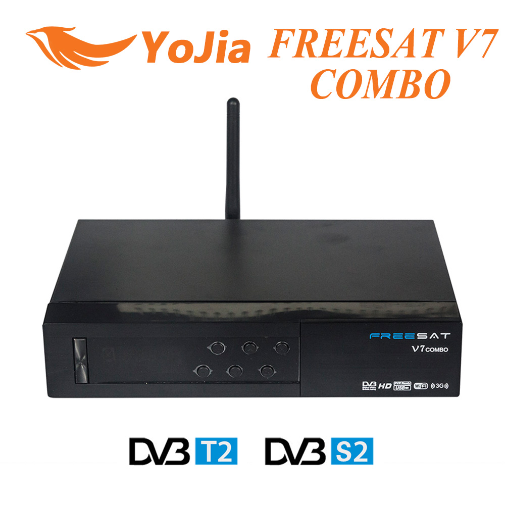 [Genuine] Freesat V7 Combo DVB S2 + DVB T2  Satellite Receiver with PowerVu Biss Key Cccam Newcam Youtube USB Wifi Set Top Box