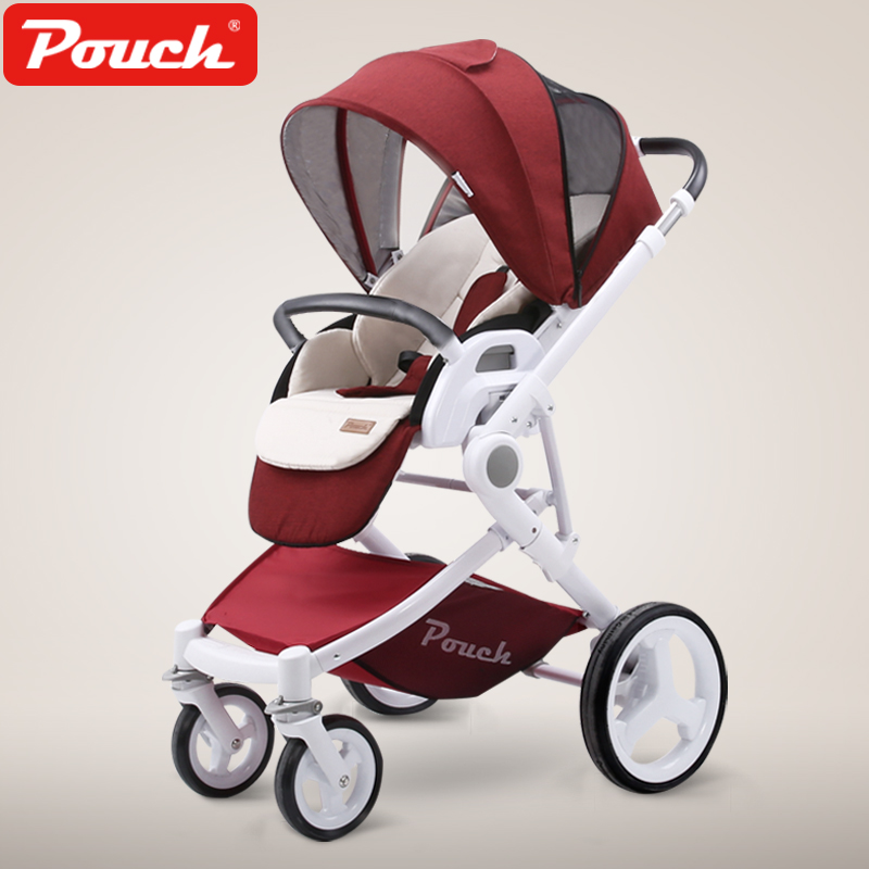 Luxury baby stroller  two-way push children trolley foldable light Umbrella carts kds twin baby stroller high landscape two baby trolley hand double fold front and rear can lie luxury umbrella carts