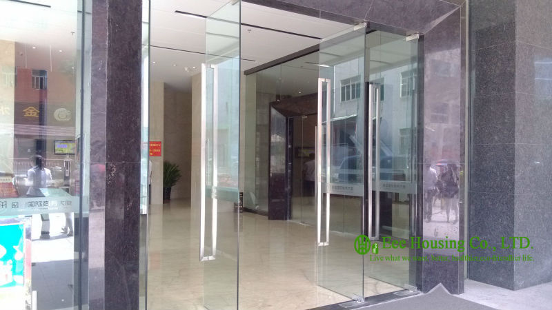frameless glass door qing hu