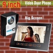 New 9 inch big screen color video door phone intercom system video doorbell camera intercom monitors door bell video speakphone
