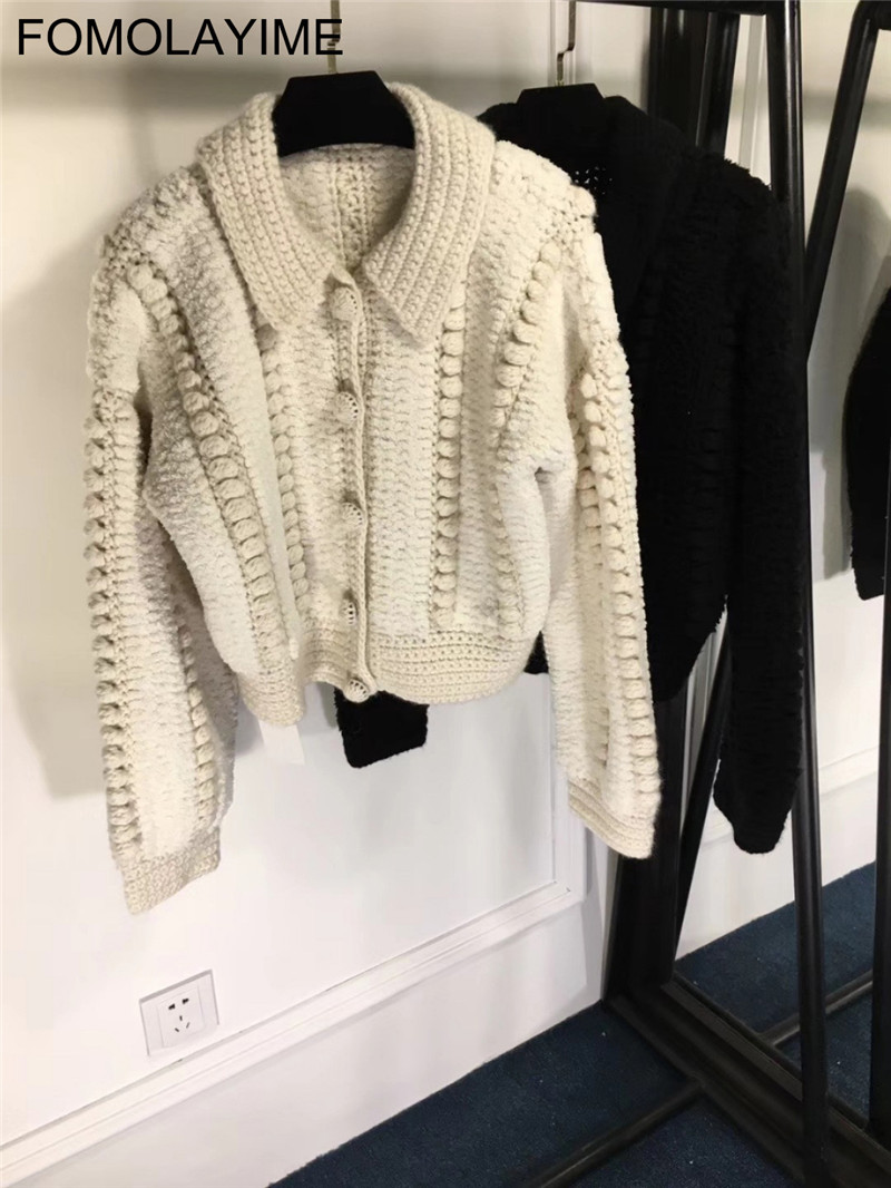 Haute Européenne Tricoté Hiver Manteau Automne Cardigan Nouvelle 2018 Fomolayime Solide Cardigans Couture qCxEHw4H