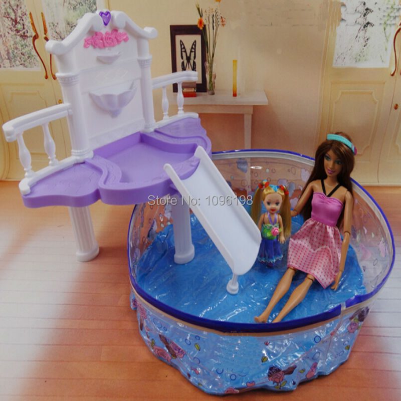 dollhouse furniture water fountain amp swimming pool play fit for barbiechina barbie dollhouse furniture cheap