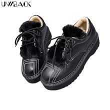 Plus Size 40 Uwback 2016 New Brand Winter Women Casual Shoes Lace-Up Plush Thick Sole Femme Shoes Warm Non-Slip Short Shoe XJ221