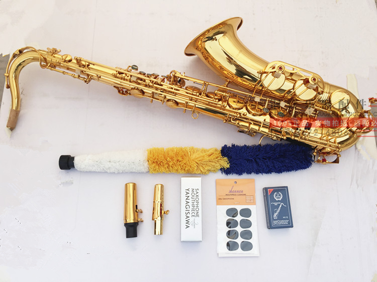 все цены на Hot high quality original TWO1 T901 Tenor Saxophone Play music instruments TOP saxophone music and  metal mouthpiece онлайн