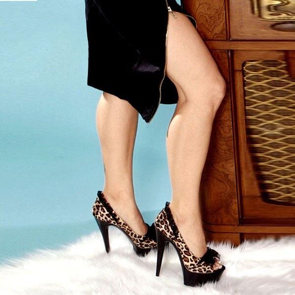Nero Da sandali 15 Nero A Stampa In Ballo Della Pattini Rosa Tacco Spillo rosso Singoli Partito Pollice Del 02 Con 01 Leopardo Scarpe Cm E Il 6 Sexy Raso colore Pizzo 4OIr4R7w