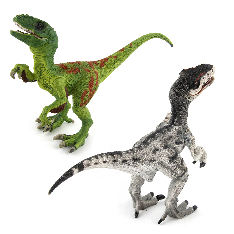 Jurassic World Park Velociraptor Dinosaur Action & Toy Figures Animal Collectional Model Learn Education Gift #E jurassic world park tyrannosaurus rex styracosaurus plesiosaur brachiosaurus dinosaur plastic toy model children s gift