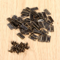 50 Unids 16x13mm Bronce Antiguo/Oro Accesorios Cajas de Joyas Pequeño Bisagra Bisagras Del Gabinete Muebles Herrajes Para Muebles para los Gabinetes