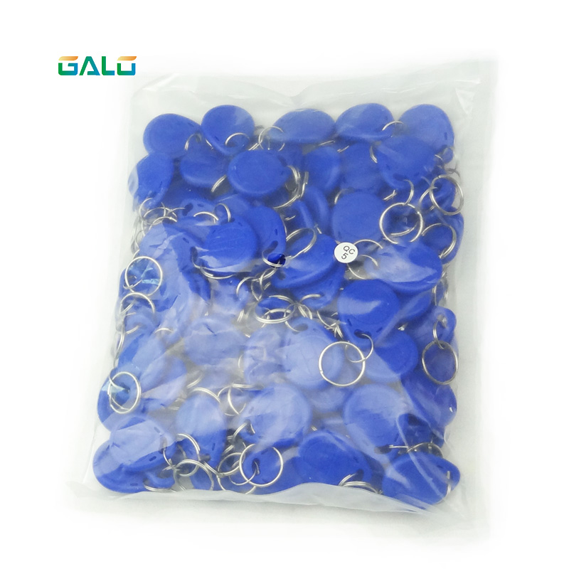 100 Stucke 125 Khz RFID Nahe Keyfobs Ring Access Control-Card Rfid Rot Gelb Blau Tags