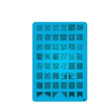 Geometrie Konad Ontwerp Stempel Image Plate Stamping Nail Art DIY Image Plate Template(China)