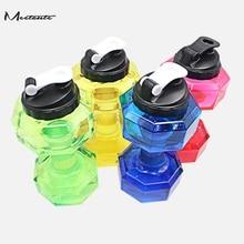Meetcute Große Kapazität Hantel Wasser Flasche Für Gym Fitness Sport Außen dicht Hanteln Geformte Sport Wasserflasche