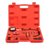New 19pcs Transmission Engine Oil Pressure Tester Tool Kit Oil Pressure Gauge Diagnostic Test Tool Petrol Garage Tool 0 1000PSI