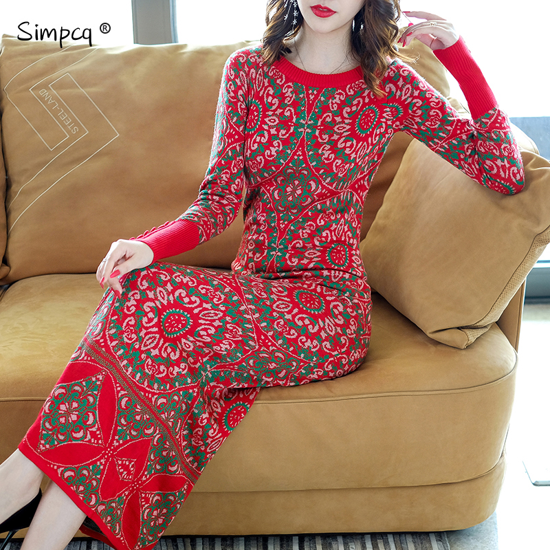 Cuello Encanto Rojo Femenina Inverno Real Apresurado Vestido Suéter Jersey Blusas Completa Mujeres Estándar Feminino Ninguno De Jerseys Larga OEEp7A