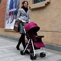 Paisagem alta carrinhos de 4 rodas carrinho de criança dobrável crianças três gerações absorvedores de luz carrinho de criança carrinho de choque de carro do bebê
