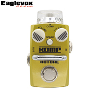 Hotone KOMP Stompbox Optical Compressor Smooth Compressed Tone Guitar Effect gutar pedal  True Bypass Footswitch
