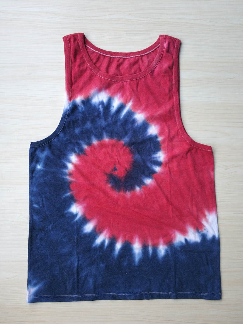 Skate Mens Swirl Tie Dye Tank USA Size M (Without Main Label and Size Label)