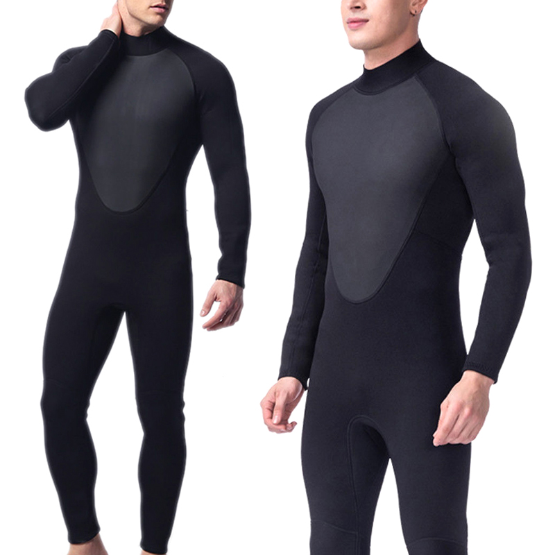 Diving Suit Male Full Bodysuit Wetsuit 3mm Neoprene Stretchy Swimming Long Sleeve Wetsuit Surfing Snorkeling Full Bodysuit