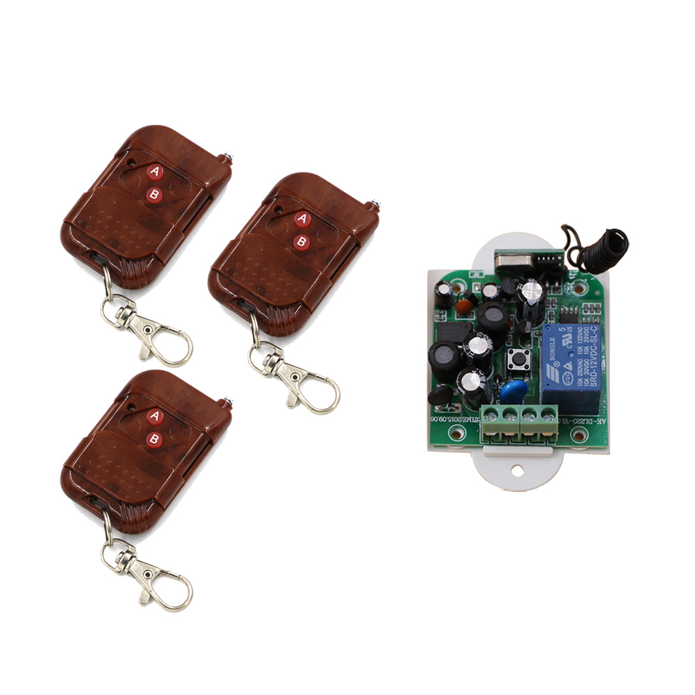 Best Price 85V 110V 120V 220V 250V 1CH Remote Control Light Switch Relay Output Radio Receiver Module and 3pcs Peach Transmitter best price 5pin cable for outdoor printer