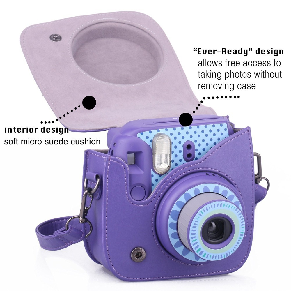 Pu Leather Camera Bag For Fujifilm Instax Mini 8 Case Vintage Purple In Video Bags From Consumer Electronics On Aliexpress Alibaba Group