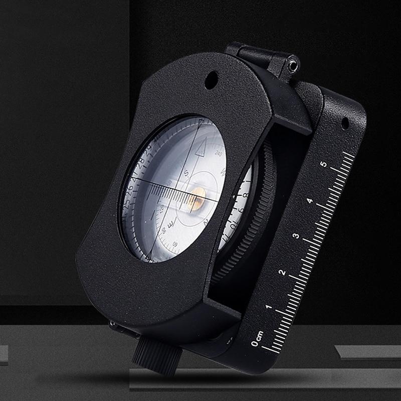 [Nouveau] boussole professionnelle de survie de boussole de mesure de carte de lampe de LED étanche de vue, catégorie militaire (avec la batterie)