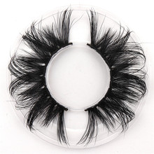 1 Pairs makeup false eyelashes natural thick 100% real 5d mink lashes fur strip fake eye extension