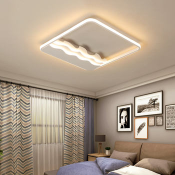 White LED Modern Ceiling Lights Aluminum and Iron Ceiling Lamp For Foryer Dining Room Bedroom lamparas de techo avize led lamp