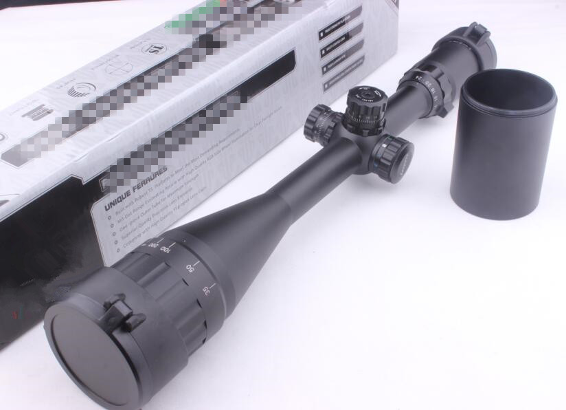 Tactical Weapon Telescope Sight 6-24X50 Full Size AO Mil-dot RGB Zero Locking/Resetting Rifle Scope Air Soft Scope