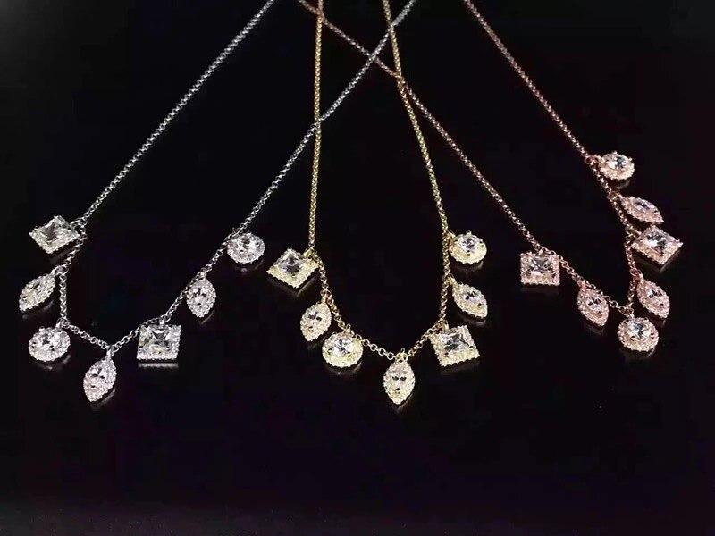 925 collier en argent Sterling pour femmes mode accessoires à col court