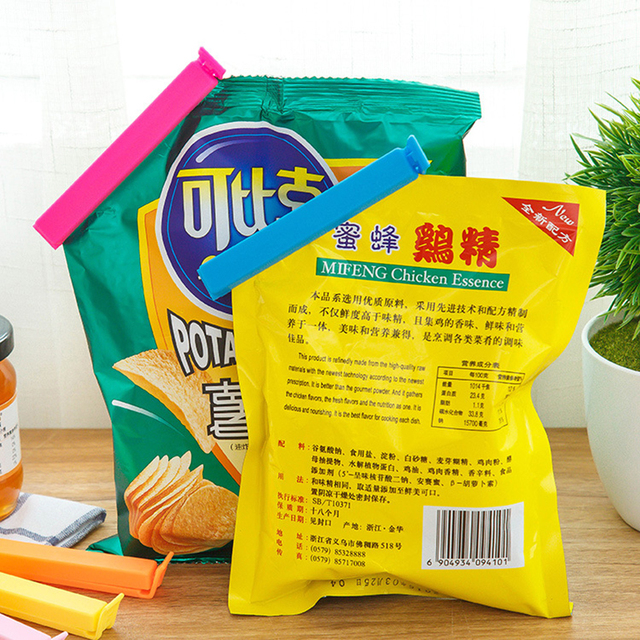 5pcs/lot Kitchen Accessories Seal Clips Sealing Bag Sealer Food Storage Tool Fruit Snack Preservation Bag Clamp Kitchen Gadgets