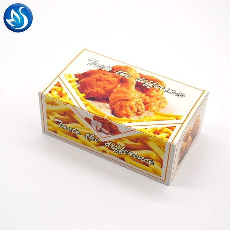 Carton Para Fritos,disposable Kraft Paper Take Away Chicken Box,chicken Nuggets Box