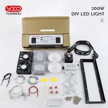새로운 도착 크리 어 cxb3590 diy led 성장 램프 키트 200 w 300 w cob 디 밍이 가능한 led 성장 빛 전체 스펙트럼 따뜻한 화이트 3000 k 3500 k 5000 k