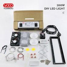 חדש הגעה CREE CXB3590 diy led לגדול מנורת ערכת 200 W 300 W COB ניתן לעמעום LED לגדול אור ספקטרום מלא חם לבן 3000 K 3500 K 5000 K