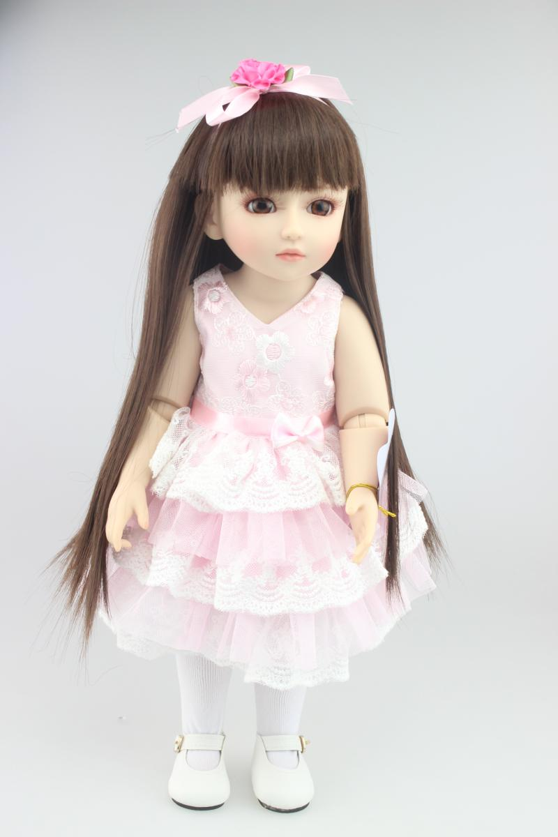 18 Inch 45cm SD BJD Vinyl Reborn Baby Doll Toys with clothes NJ878 18 inch 45cm new lifelike vinyl reborn baby doll full vinyl sd bjd body dolls with clothes for girls gh587