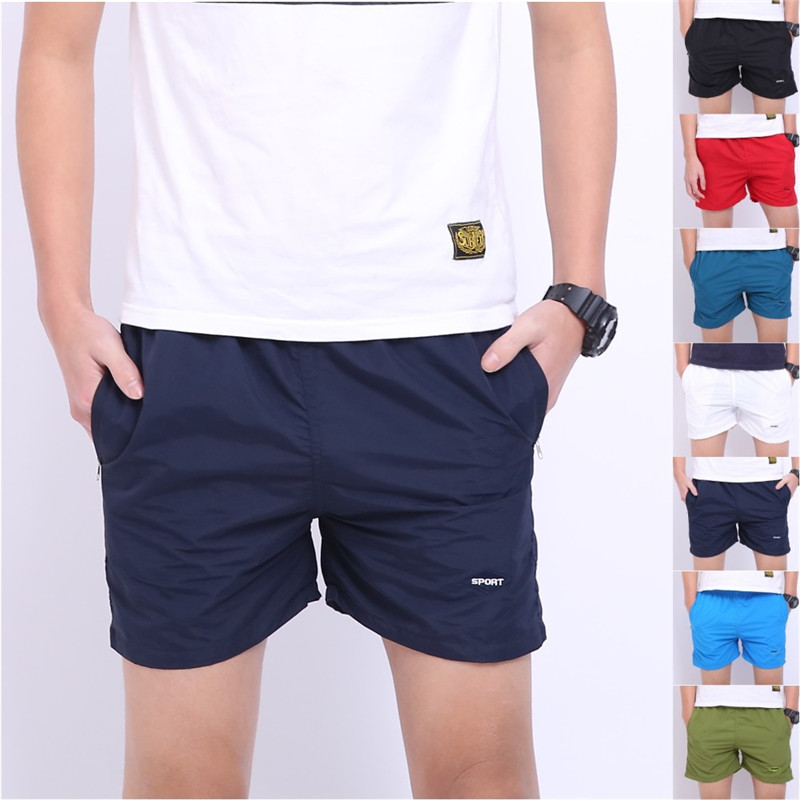 Drawstring 7 Mid Cotton Regular Trousers Shorts Hot Beach Solid Casual Short Basic Waist Boy Loose Colors Men