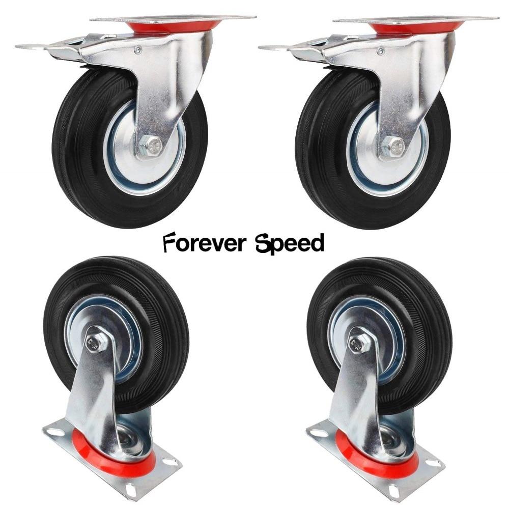 Swivel Caster 4pcs 125mm Wheel