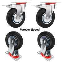 75mm Caster Wheels Furniture Heavy Duty Castors Furniture Office Chair Swivel Rubber 4Pcs Caster Wheels Replacement Wholesale