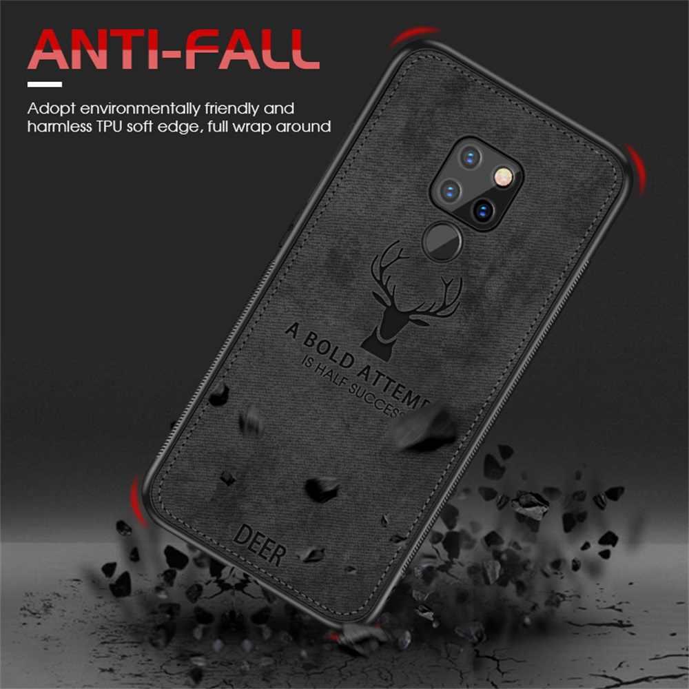 Case For Huawei Mate 20 Pro P20 P30 Lite P Smart 2019 Honor 8X 8C 8A 9 10 Lite Nova 3 3i 4 5 5i Pro Deer Cloth Phone Case Cover
