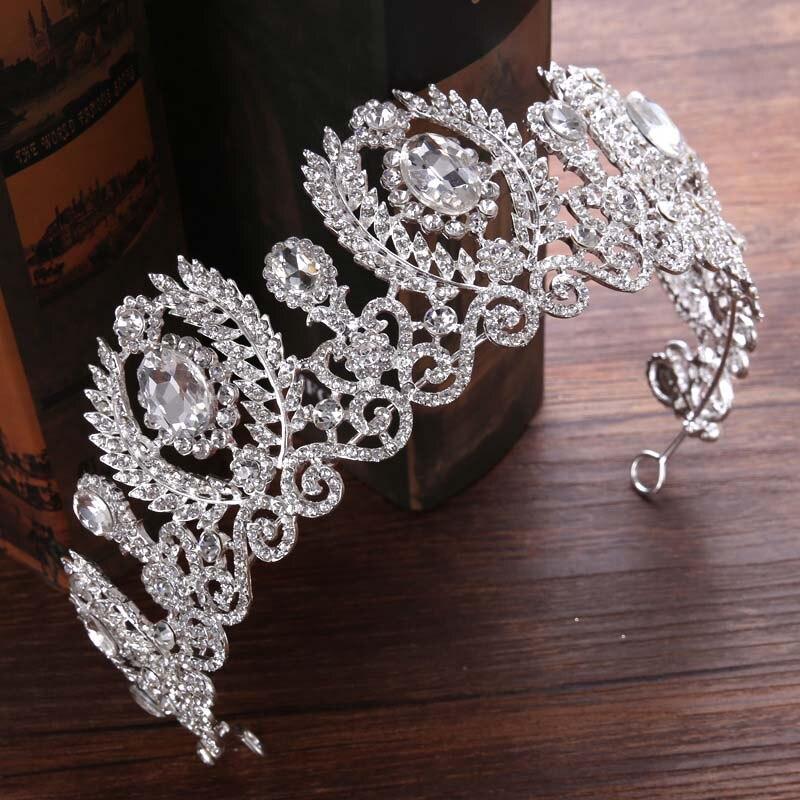 2018 New Bride Headdress Baroque Luxury Crown Princess Bride Wedding Dress Accessories Fashion beauty forever hair Tiaras JL