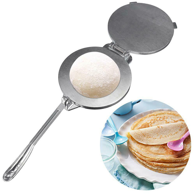 Aluminium Tortilla Maker Press Heavy Duty Meat Press Foldable Bakeware Kitchen Accessories Tools Silver/Orange Pie Tools Gadgets image