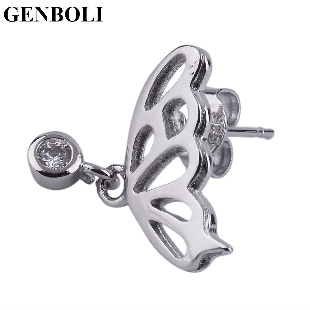 Exquisite Silver Plated Jewelry Butterfly Shape Silver Plated Earrings For Women Fashion Fine Jewelry Hot!