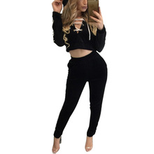 Womens Two Piece Crop Tops Sets Sexy Tracksuit Long Sleeve Hooded Ensemble Leggings Outfits Pants Rompers Jumpsuit w1107