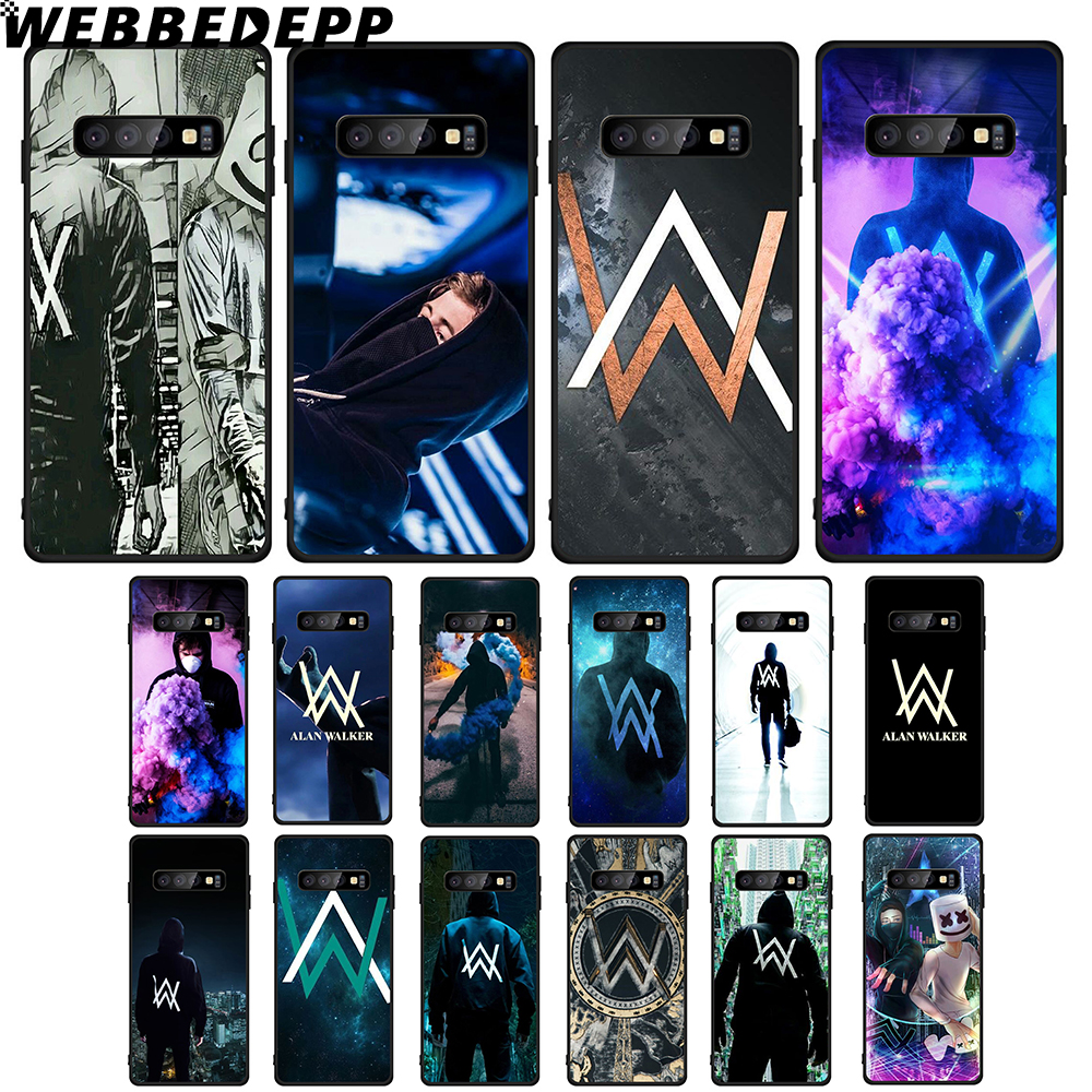 WEBBEDEPP Alan Walker DJ Soft TPU <font><b>Case</b></font> for <font><b>Samsung</b></font> <font><b>Galaxy</b></font> Note8 9 A10 A20 A40 A50 A60 <font><b>A70</b></font> M10 M20 M30 image
