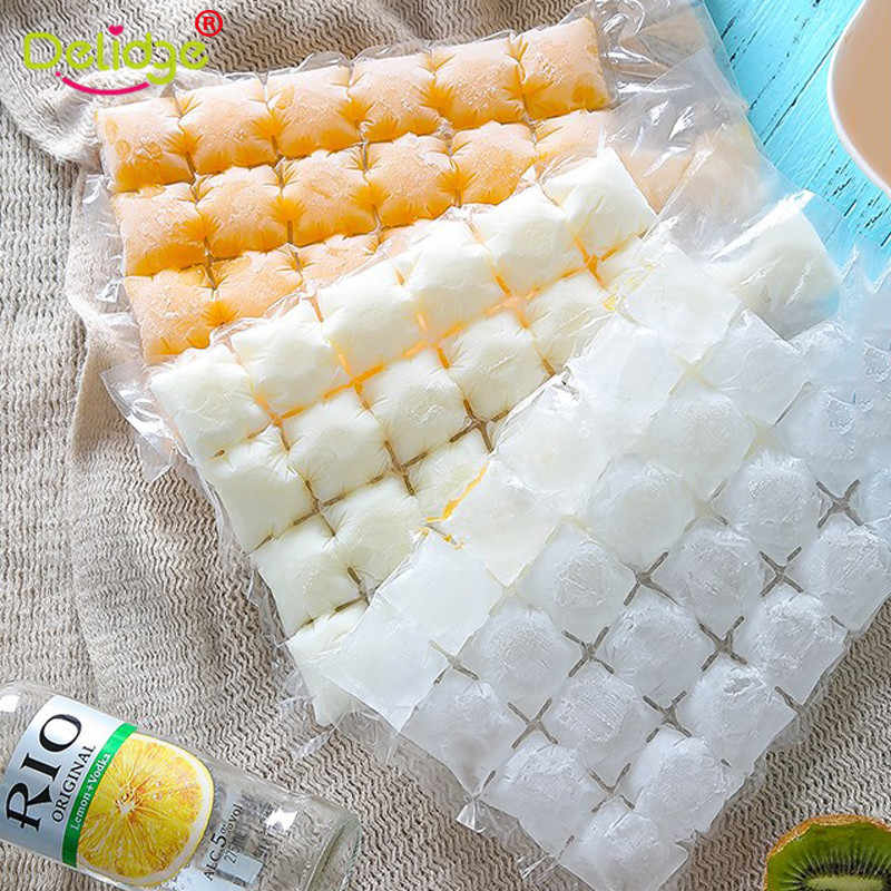 10pcs Disposable Ice Bags Ice Cube Tray Mold Ice Mould Injection Cocktail  Summer Juice Drink DIY Drinking Kitchen Tool