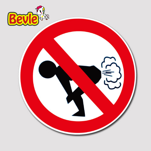 Bevle 1746 No Fart Fashion Stickers Geezer Notebook Waterproof 3M Sticker Skateboard Car Graffiti все цены
