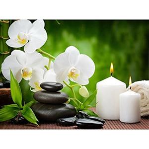 Image 2 - Daimond 그림 5D 전체 광장/라운드 불교 양초와 꽃 다이아몬드 페인팅 라인 석 크리스탈 크로스 스티치 모자이크 160QW