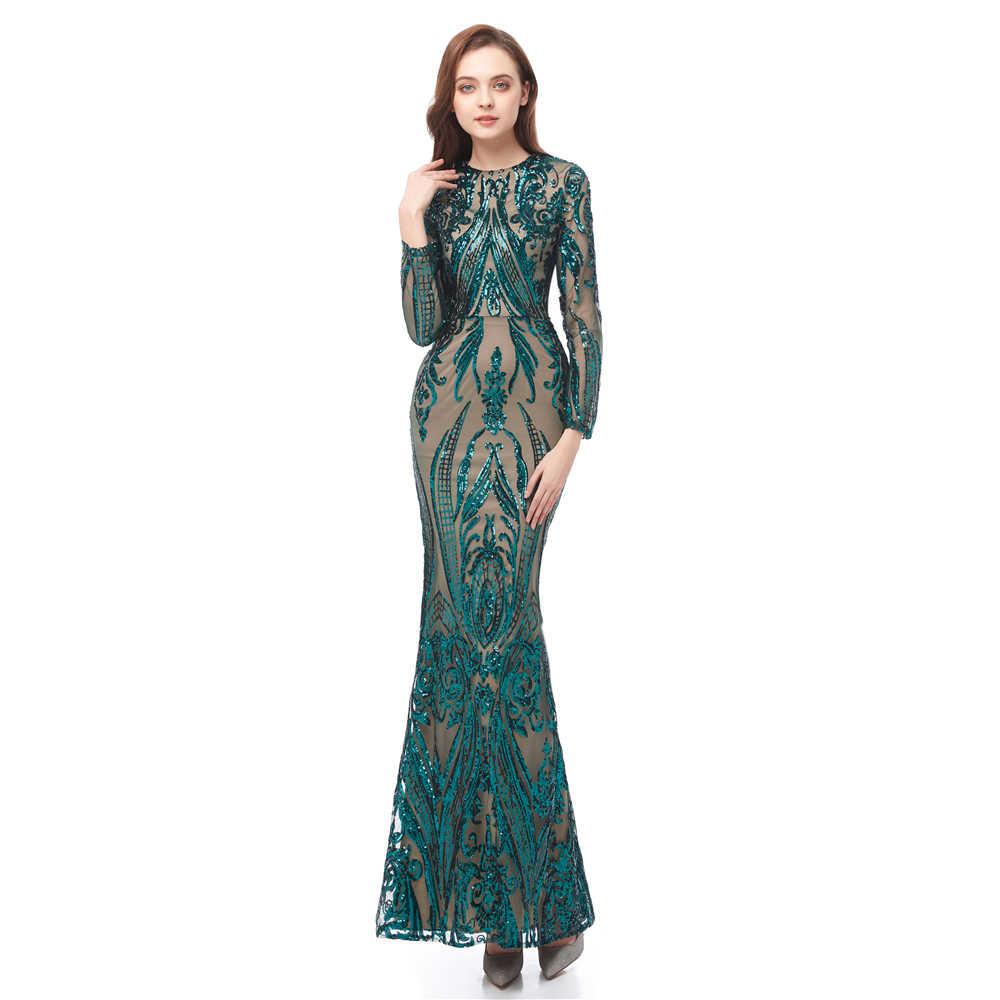 Одежда с длинным рукавом зеленого платья для выпускного вечера со стразами 2019 с расширенным съемным подолом, Вечеринка уникальные платья Плюс Размеры сексуальное платье для выпускного вечера