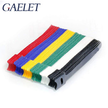 120pcs Reusable Fastening Cable Ties Microfiber Cloth 4.5-Inch Cable Strap Hook and Loop Multicolor ZK30 20pcs reusable hook and loop fastening cable ties with microfiber cloth and 20pcs silicone bag ties cable management