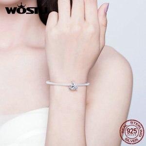 Image 5 - Wostu carta um alfabeto pulseira 925 prata esterlina carta contas encantos original beacelet & bangle para mulher jóias fib829