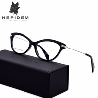 HEPIDEM High Quality Handmade Acetate Glasses Frame Women Prescription Cat Eye Eyeglasses Optical Frame Eyewear Spectacles