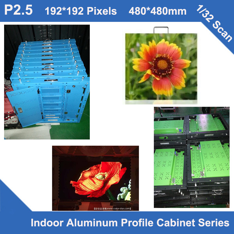 TEEHO aluminum cabinet P2.5 indoor aluminum 480mm*480mm 192x192 dots 1/32 scan video led screen,rental or fixed installationTEEHO aluminum cabinet P2.5 indoor aluminum 480mm*480mm 192x192 dots 1/32 scan video led screen,rental or fixed installation