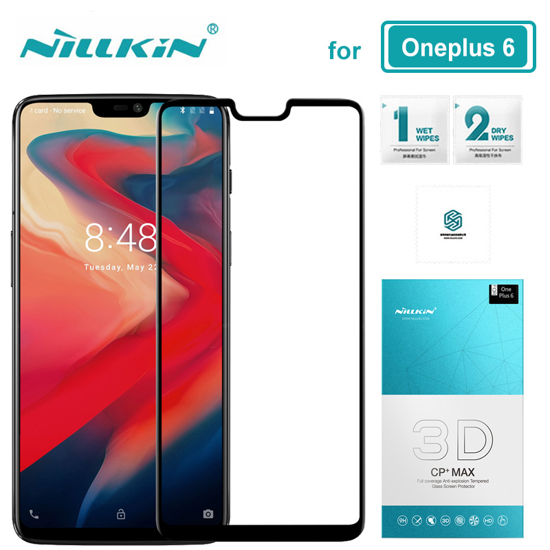 for Oneplus 6 Glass Nillkin CP+ Max Full Cover 3D One Plus 6 Tempered Glass Oneplus6 Screen Protector for Oneplus 6 Nilkin Glass